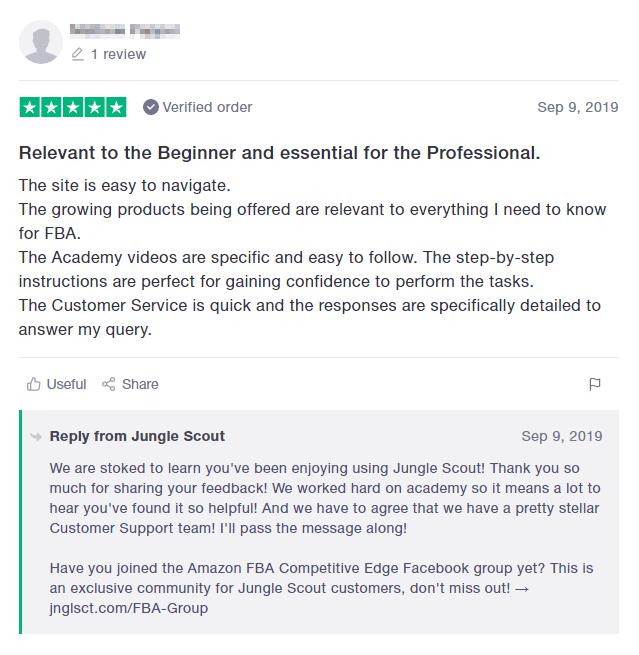Positive Jungle Scout Review